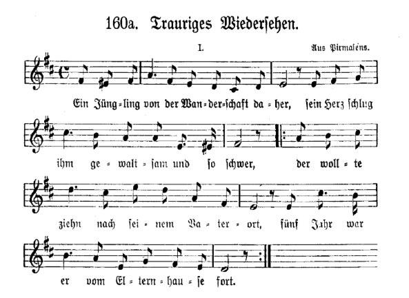 Trauriges-Wiedersehen-Melodie von 160a