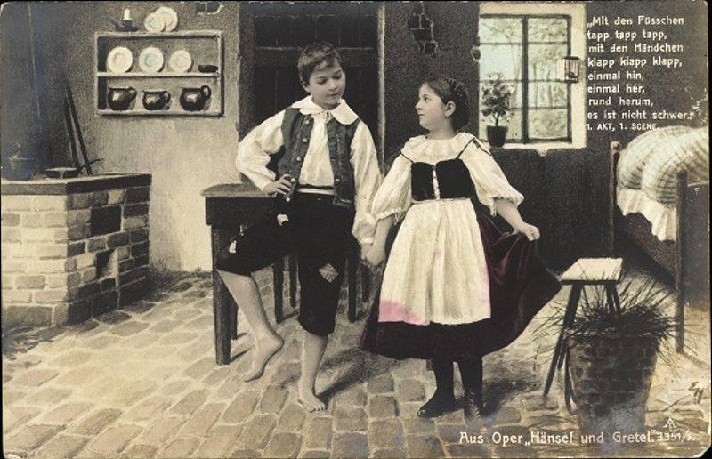 Mit den Händen klapp klapp klapp: Postkarte von 1910