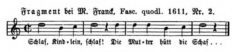 Schlaf Kindlein Schlaf (Melodie 1611)