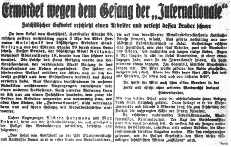 1931-01-27 Wegen Internationale Ermordet
