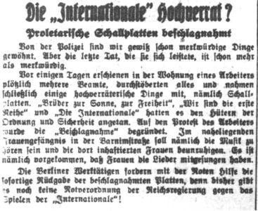 1931-07-23 Schallplatten Beschlagnahmt