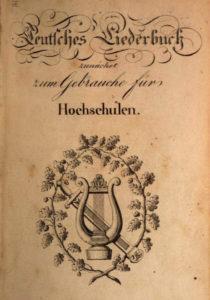 Teutsches Liederbuch für Hochschuklen (1823)