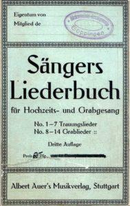 Saengers Liederbuch