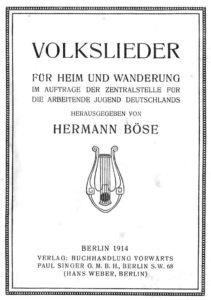 Volkslieder Hermann Boese