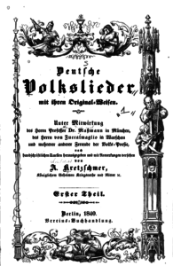 Deutsche Volkslieder 1840