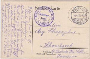 Postkarte Argonnerwald
