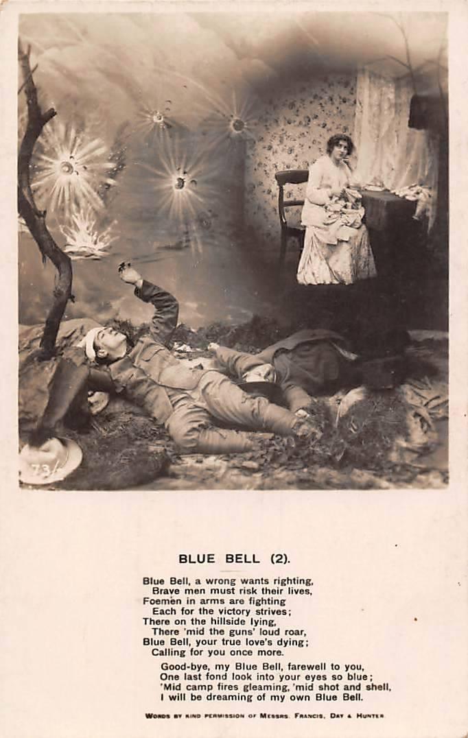 Blue Bell Postkarte Weltkrieg I (1914)