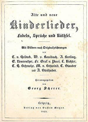 Kinderlieder von Georg Scherer (1849)